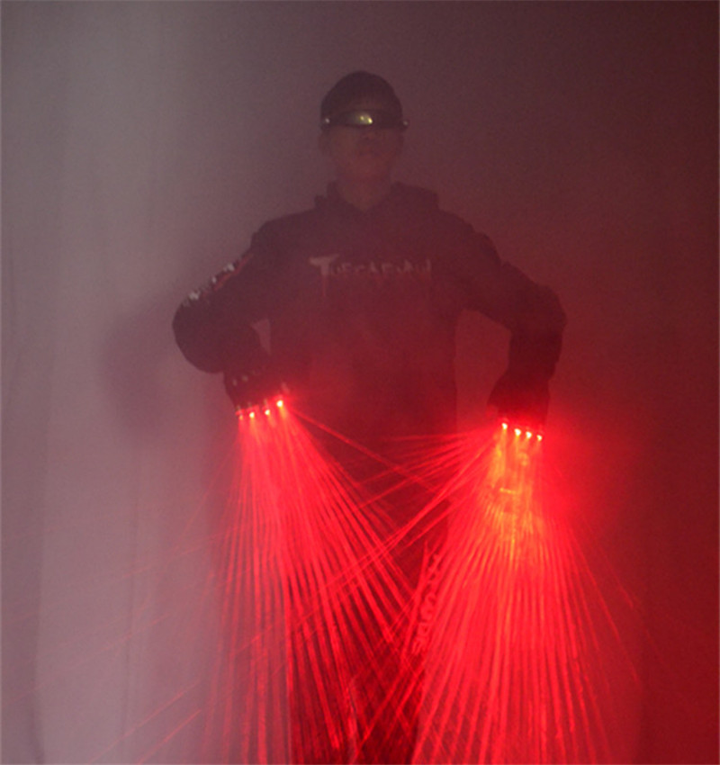Red Laser Gloves Laser LED Stage Gloves Luminous Gloves For DJ Club/Party Show Creative Prop Lighting Light Shows