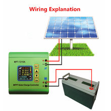 MPT-7210A Digital LCD Display Solar Panel Charge Controller 24/36/48/60/72V Boost Solar Battery Controllers MPPT(China)