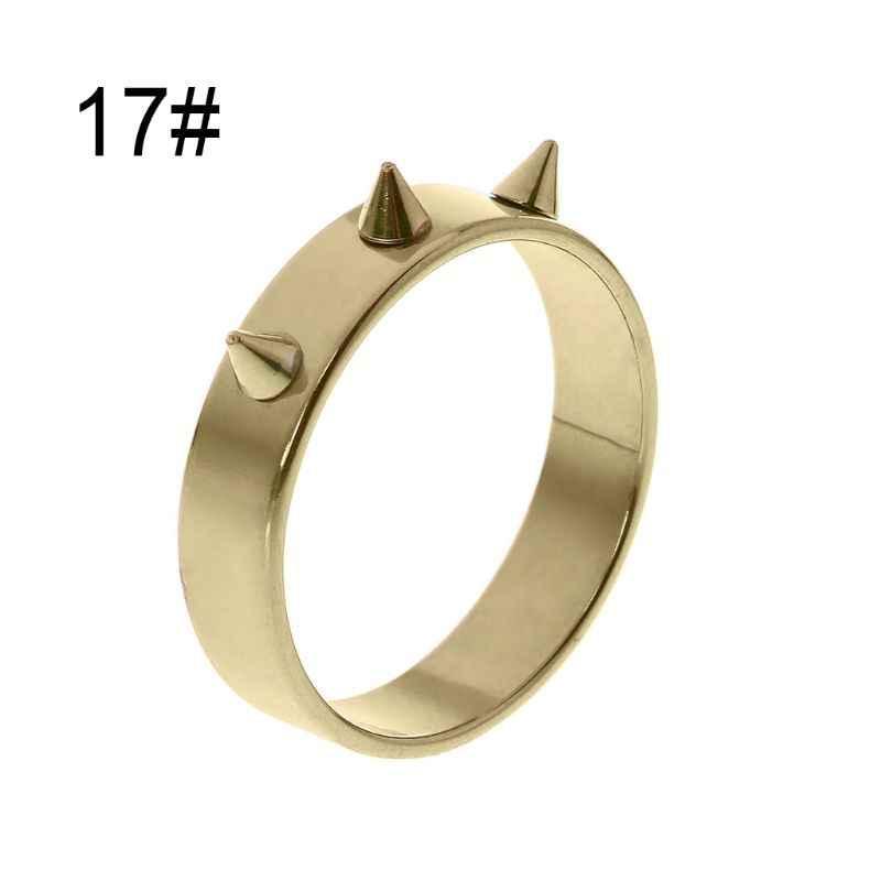 Self-Defense แหวนนิ้วมือแบบพกพาอาวุธ Survival กลางแจ้งฉุกเฉิน Glass Breaking Punk แหวน Protector M5TB