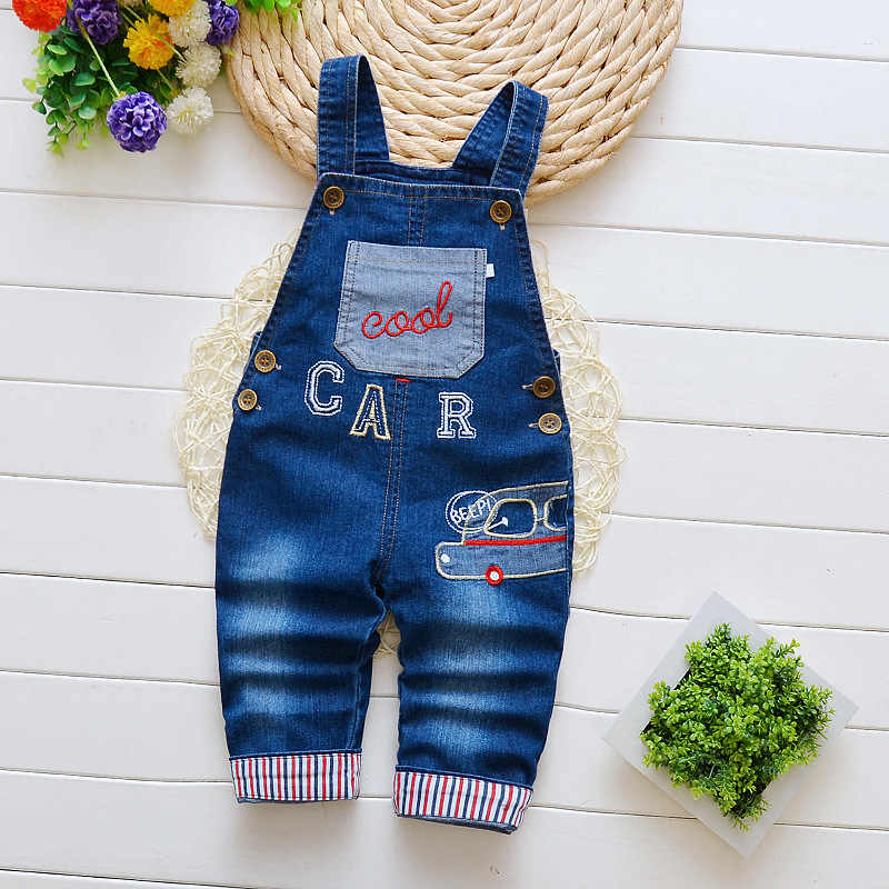 IENENS Toddler Baby Overalls Boys Long Pants Denim Dungarees Kids Children Boy Jeans Jumpsuit Clothes Clothing Playsuit Trousers