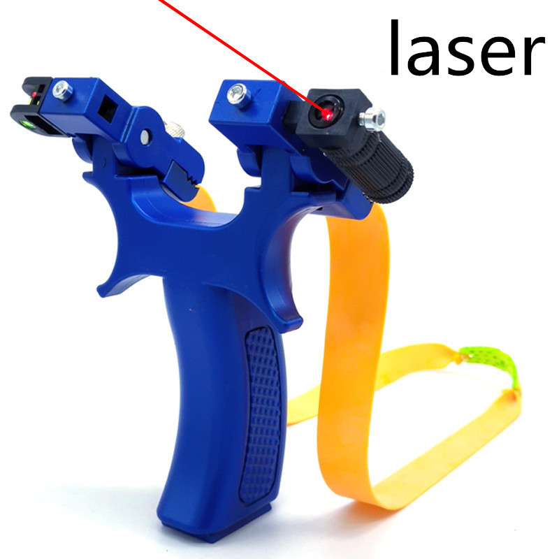 Novice Recommended Laser Aiming Slingshot Head Can Be Rotated To Increase The Accuracy Of The Power Of The Outdoor  Slingshot