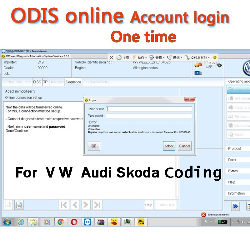ODIS GEKO Online Coding Account Login Service For Audi Software 4.03/4.33/5.13 For Diagnostic Interface 5054A/ 6154 V4.4.1