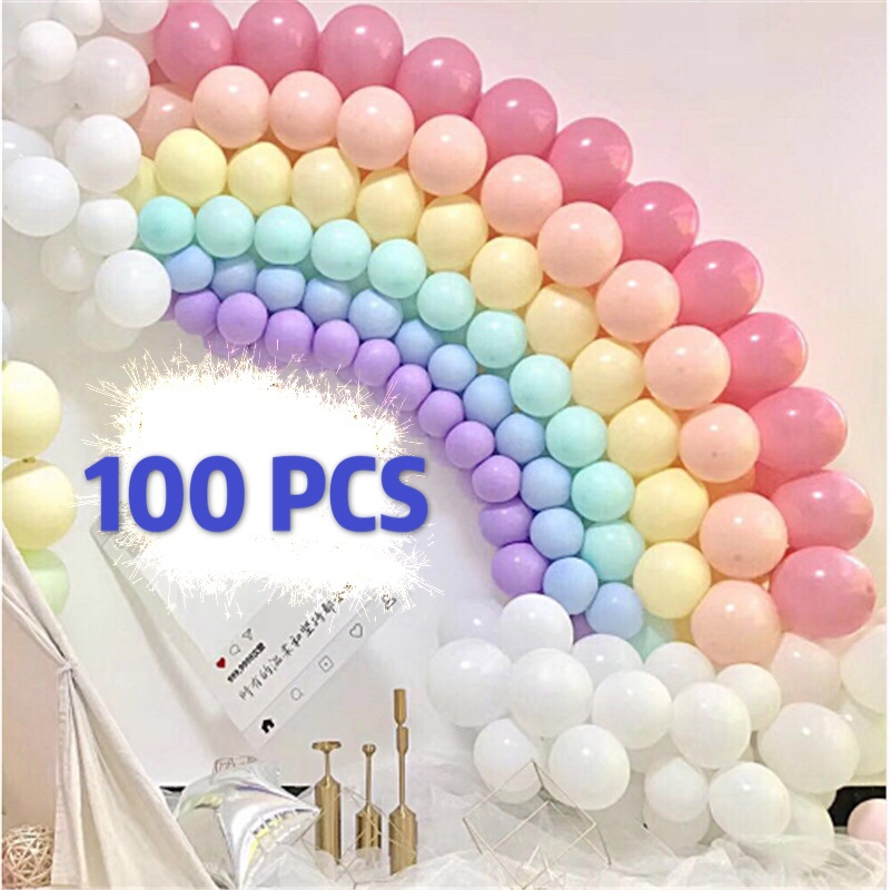 100 Pcs Inflatable Ball Toy 10 Inch Birthday Wedding Pink Balloon Toy Inflatable Cartoon Hat Children Party Toy Hat