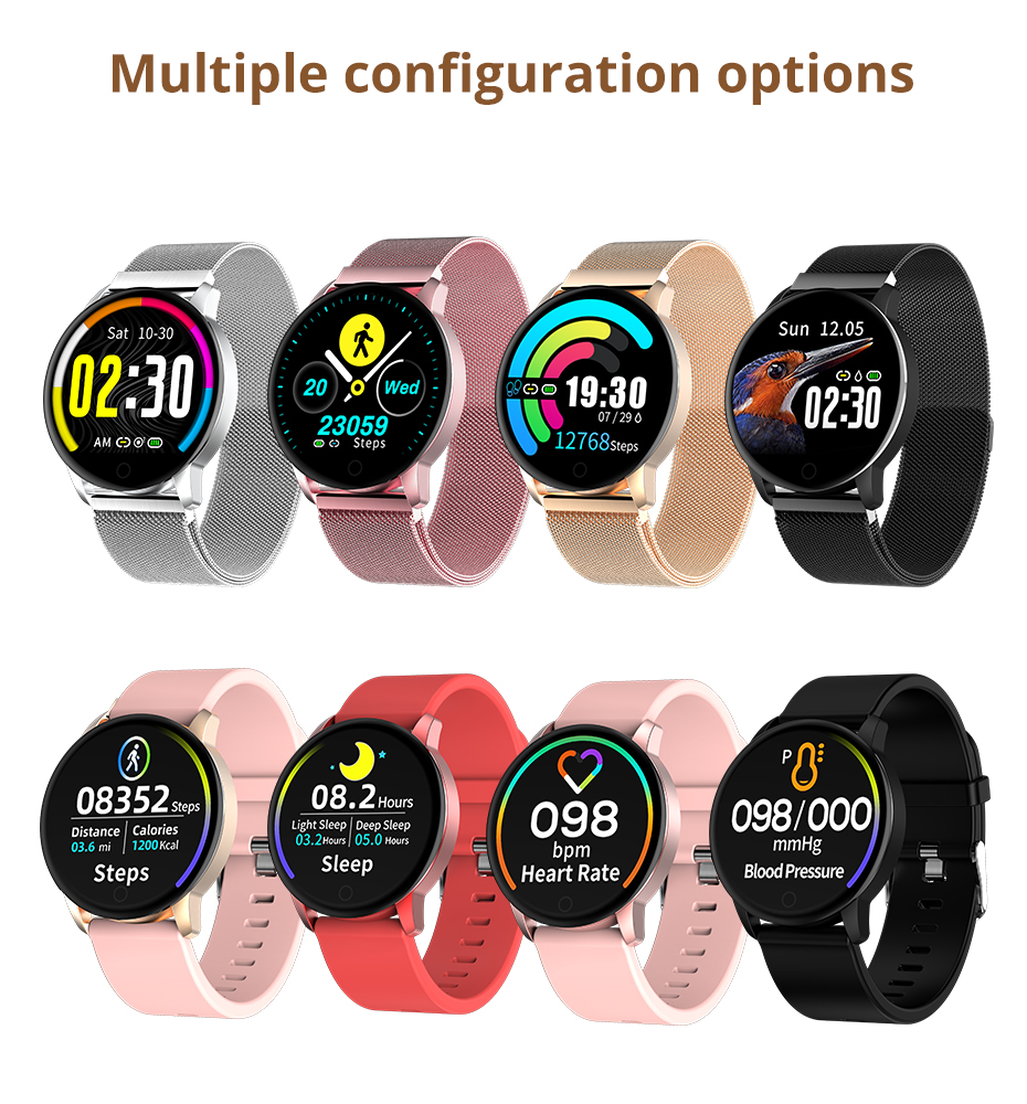 Makibes T5 PRO Advanced Milanese magnetic Fitness Tracker Smart Watch Blood Pressure Monitor Smartwatch Fashion PK Q8 Bracelet08