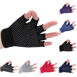 Dispensing non-slip yoga gloves, fingerless yoga gloves, sweat-absorbent sports gloves, breathable and sweat-wicking W