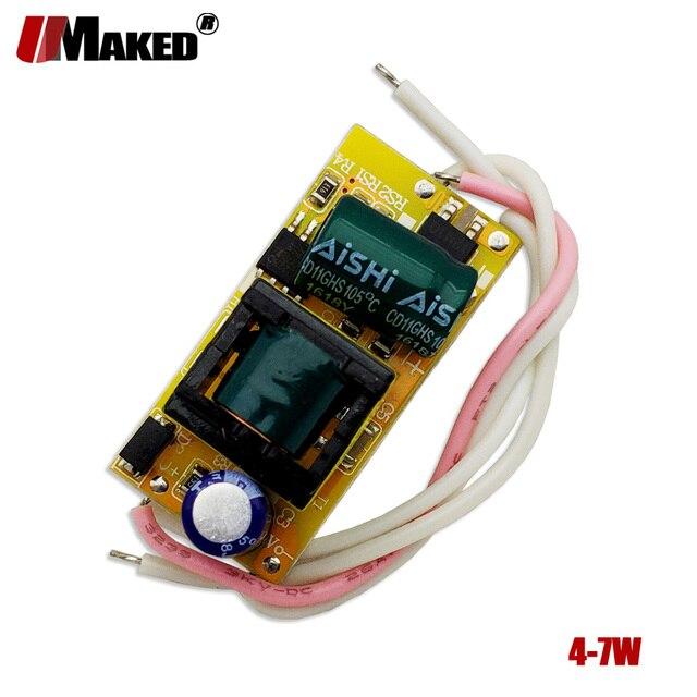 2/10pcs 300MA 4-7W LEDs fonte de Alimentação LED Driver AC90-265V DC12-25V Transformadores de Iluminação da fonte de Alimentação adaptador de alimentação AC85-265V