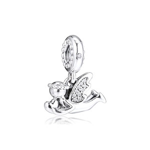 Image 5 - Clear CZ Angel of Love Dangle New 2019 Winter Collection 925 Sterling Silver Charms for Bracelets & Bangles DIY Jewelry Making