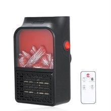220 В ЕС мини Электрический удобный огневой нагреватель 500 Вт плагин воздушный ОБОГРЕВАТЕЛЬ PTC керамическая нагревательная плита радиатор программируемый вентилятор нагреватель