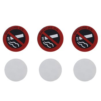 """NO SMOKING"" 2""x2"" Rubber Sign (3PCS)"