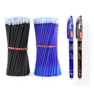 Image 1 - 2 + 50ピース/セット0.5ミリメートルブルーブラックインク消去可能なリフィルロッド消去可能なペン洗えるハンドルスクール書き込み文房具ゲルインクペン