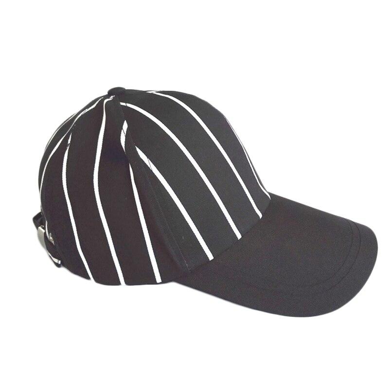 New Baseball Hat Black White Stripe Outdoor Sports Shade Cap Women Man Fashion Street Hip Hop Hats Cotton Baseball Caps TG0160