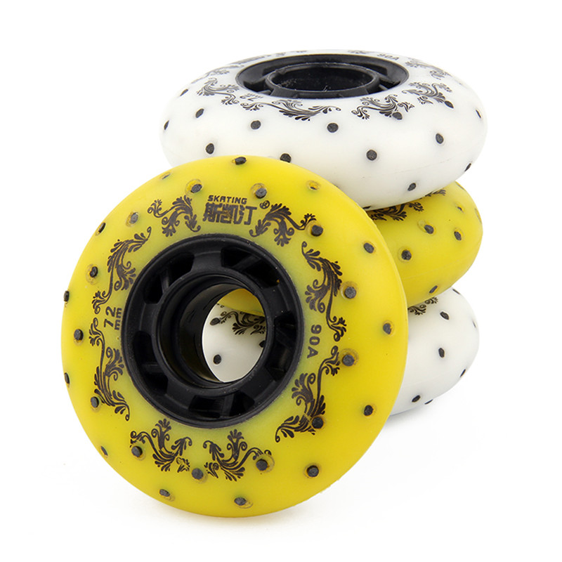 8 Pcs Flint Rollers Fire Stones Sparking Roller Skate 90A Braking Fire Stone Wheels With 50 100 Pieces Fire Stones LZ104