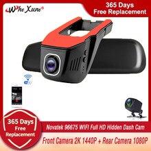 2K 1440P Novatek 96675 Dashcam Wifi Dual Lens Auto Dvr Registrator Digitale Video Recorder Camcorder Dash Camera Night versie