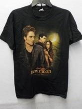 Camiseta con estampado de Crepúsculo para hombre, Camiseta con estampado de nueva luna, EDWARD, James BELLA, color negro, #13172V