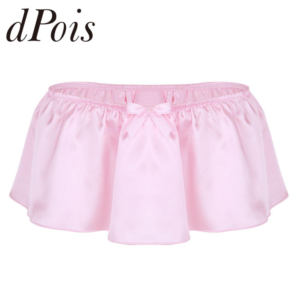 Underwear Thongs Satin Sissy Panties Briefs Lingerie Strings Gayhomme Male Man Jockstrap