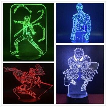Lámpara 3D de superhéroes para decoración de dormitorio, lámpara de luz LED...