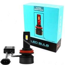 90W 10000LM F3 H4 H7 H8 H11 h13 araba LED far ampulü sis lambası H7 H11 H8 9005 9006 H1 880 araba LED far kiti
