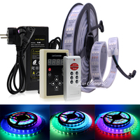 Triple Row 1812 IC 5050 DC12V RGB Dream Color Changeable LED Strip with RF Controller Holiday Decoration Fairy Lights