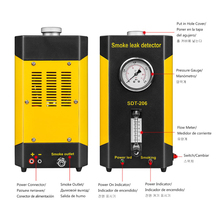 Новейший AUTOOL SDT-206 детектор дыма для автомобиля диагностический инструмент утечки трубных систем, включая EVAP для всех автомобилей автоматический тестер утечки