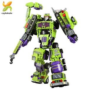 Image 5 - 6 в 1, Детский конструктор «робот»