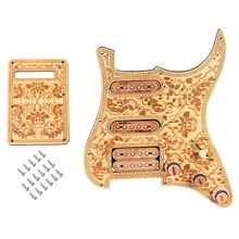 Prewired-Loaded SSH Maple Wood Guitar Pickguard Alnico V Pickups for ST Guitar loaded prewired electric guitar pickguard pickups 11 hole hsh white