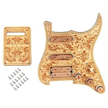 цена на Prewired-Loaded SSH Maple Wood Guitar Pickguard Alnico V Pickups for ST Guitar
