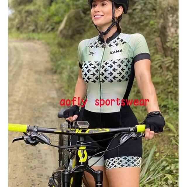 Profissional das mulheres triathlon manga curta camisa de ciclismo define skinsuit maillot ropa ciclismo roupas femininas jumpsuit2020 Maillot de ciclismo de triatlón para mujer Trajes de ciclismo para mujer Monos de 5