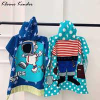 Handtuch Poncho für Kinder Mikrofaser Bademantel Kinder Surf Pool Ändern Robe Mädchen Junge Quick Dry Strand kinder Schwimmen Handtücher