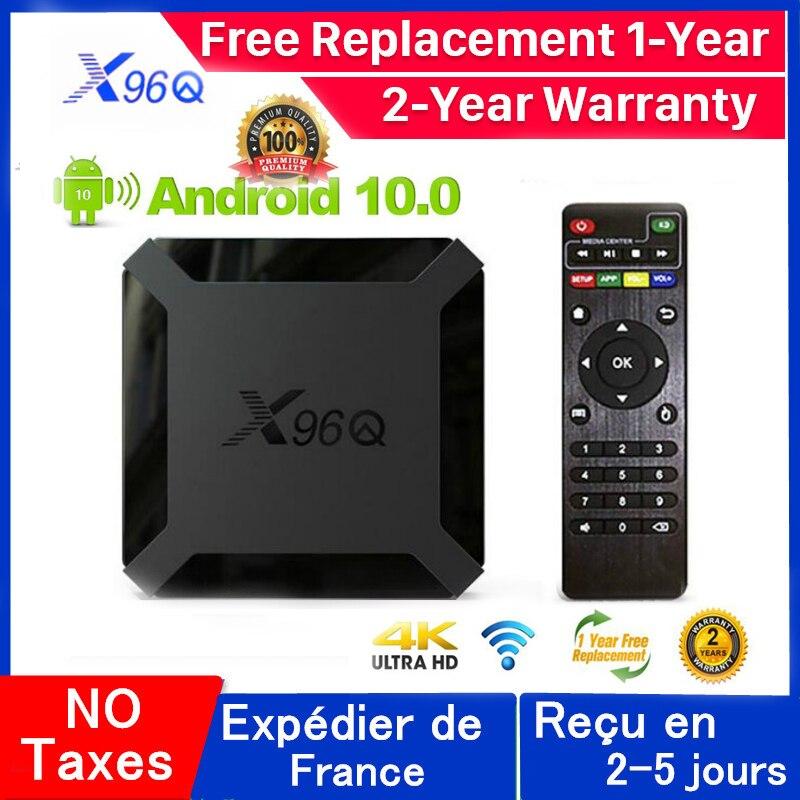 Neue Q96Q Android 10,0 Iptv Box 1G 8G 2G 16G Allwinner H313 X96Q OXY IPTV Mail-G31 MP2 smart ip tv set top box schiff von frankreich