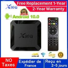 Nowy Q96Q Android 10.0 Iptv Box 1G 8G 2G 16G Allwinner H313 X96Q OXY IPTV Mail-G31 MP2 inteligentny ip zestaw pudełkek pod telewizor statek z francji