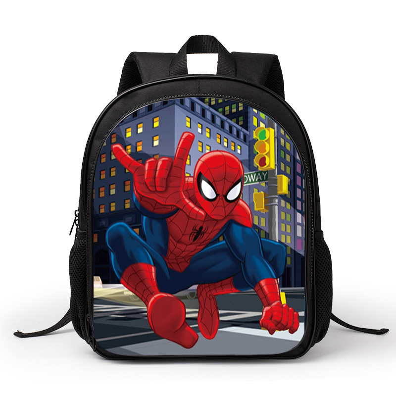 Teenagers Backpacks 3D Spider-man Cartoon Double Shoulder Bag  Unisex Primary Student Boy Girl Outdoor Travel Bag
