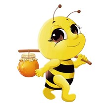 Car Sticker Bees with Honey Automobiles Motorcycles Exterior Accessories PVC Decal 15 1cm*20cm cheap The Whole Body Glue Sticker 0 01cm Stickers cartoon Creative Stickers Not Packaged