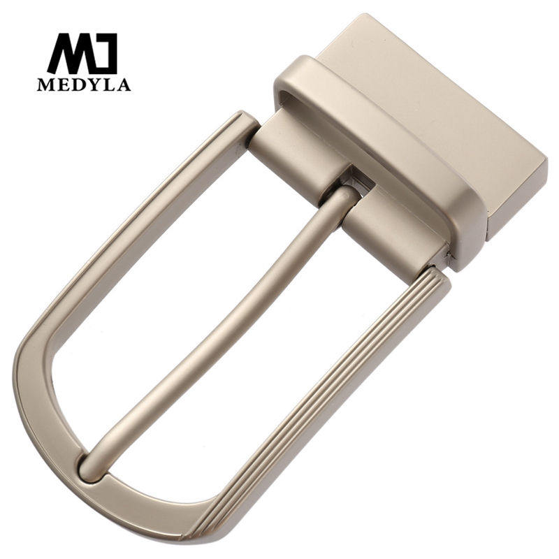 MEDYLA 360° Rotating  Belt Buckle Hard Metal Men Belt Buckle Stylish Minimalist Design Inner Diameter 3.4cm Men's Accessories