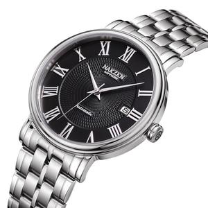 Image 1 - NAKZENผู้ชายนาฬิกายี่ห้อLuxury Manสแตนเลสนาฬิกาข้อมือนาฬิกาRelogio Masculino Miyota 9015