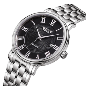 Image 1 - NAKZEN Men Classic Automatic Mechanical Watches Brand Luxury Man Stainless Steel Wristwatch Clock Relogio Masculino Miyota 9015