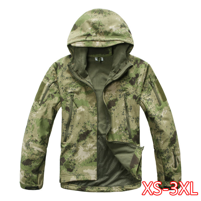 Tactical Softshell Camouflage Jacket Set Men Army Windbreaker Waterproof Hunting Clothes Set Military Jacket And Pants 2020