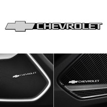 4pcs Car Speaker audio Speaker Badge stereo Emblem sticker stying for Chevrolet Colorado Cruze Spark Captiva Malibu Trax Aveo