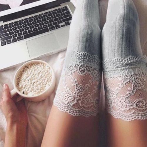 New Girls Ladies Women Thigh High Over the Knee Socks Long Cotton Stockings Warm Women's Stocks Hosiery Stockings