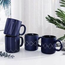 Blue Dream ver2 Beautiful Nordic Matte Ceramic Mug Tea Milk Coffee Cup Home Office Drinkware Waterware Gift