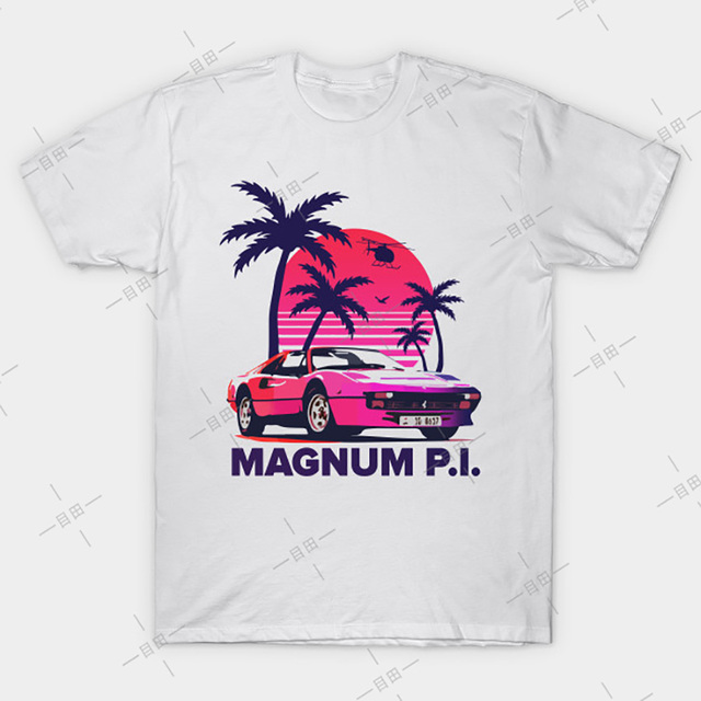 MAGNUM P.I PI TOM SELLECK MOVIE FILM 80S 90S TUMBLR TV COMEDY T Shirt