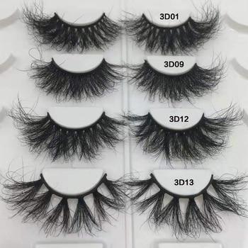 Fluffy Lashes 100% Mink Hair False Eyelashes 20mm-25mm 3d Lashes Dramatic Long Messy Natural Lashes Makeup Mink Eyelashes 1