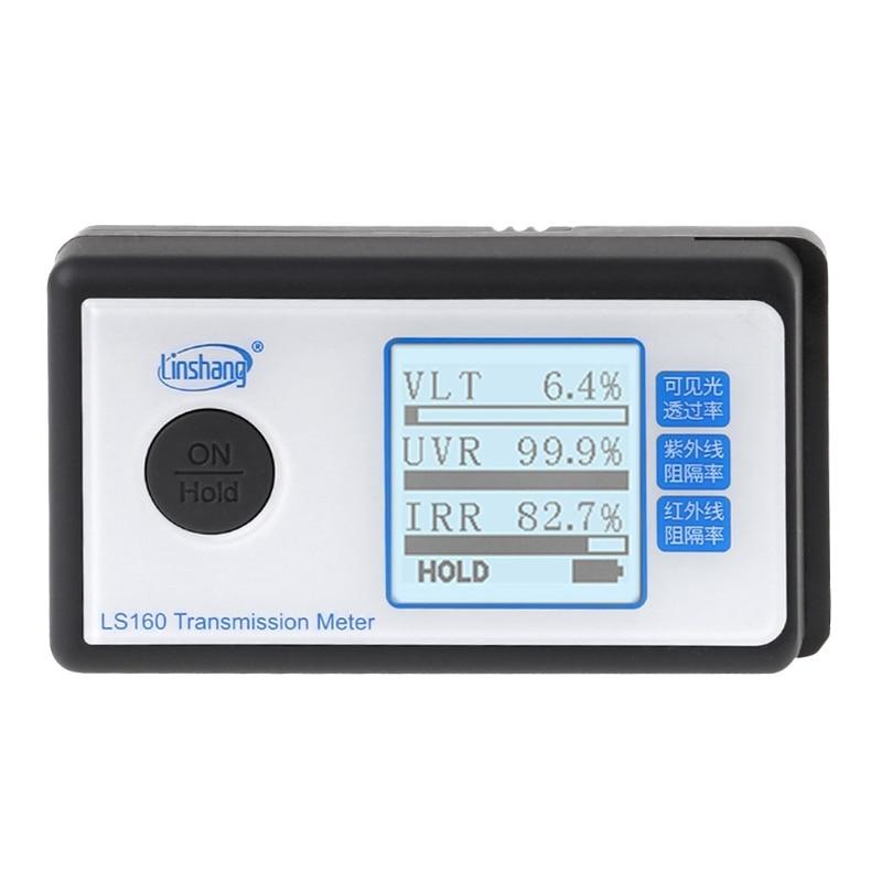 LS160 портативный измеритель передачи солнечной пленки тест окна оттенок УФ ИК отклонение Видимый коэффициент пропускания света