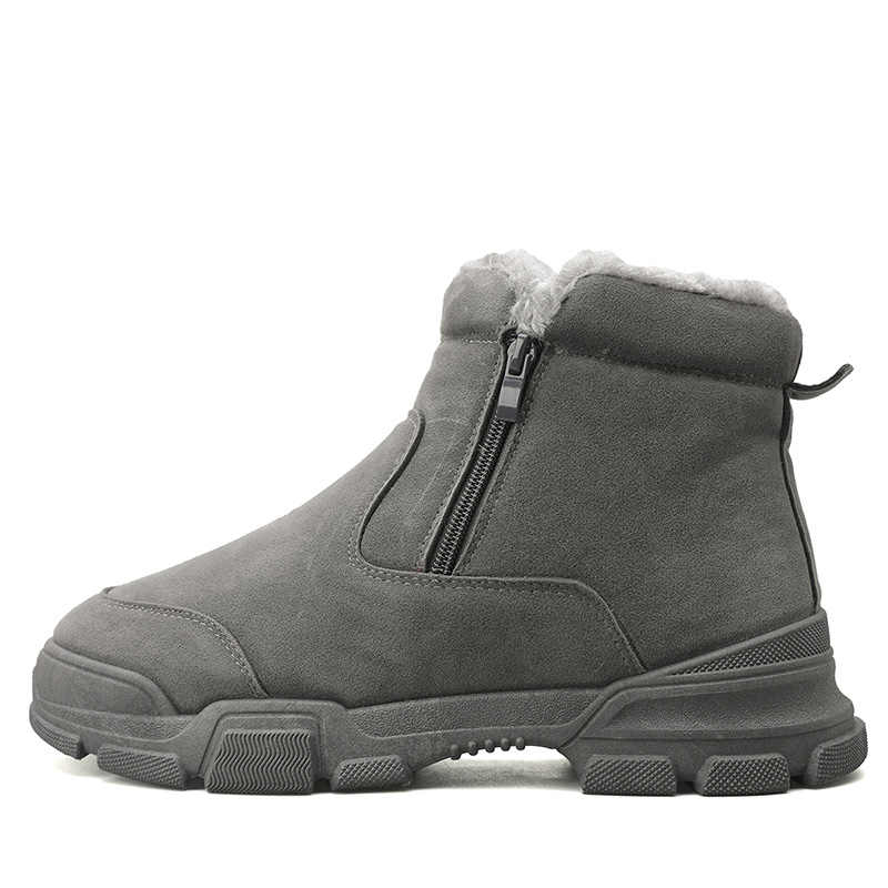 Mannen boots2019 winter nieuwe mannen snowboots korte pluche warme hoge hulp rits non-slip katoen laarzen mannen schoenen lopen shoes558