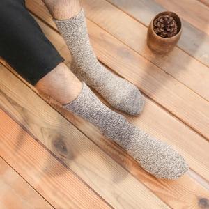 Image 4 - 10 pair/lot High Quality warm wool socks winter men harajuku retro dress socks thick cotton Sock Stripe Casual Calcetines Hombre