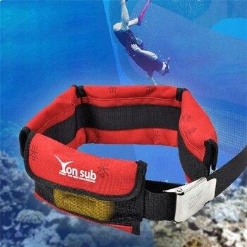 Cinturón ajustable de peso de buceo de bolsillo 4/3 con hebilla de acero inoxidable, equipo deportivo de agua para caza submarina, novedad Arri