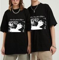 Mima Kirigoe 퍼펙트 블루 남성 티셔츠 애니메이션 레저 티셔츠 반팔 Crewneck 티셔츠 코튼 플러스 사이즈 의류 탑스, 미마 키리고 퍼펙트 블루