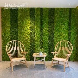 Image 3 - 高品質シミュレーション緑色植物不滅偽花苔草装飾壁diyフラワーミニアクセサリー