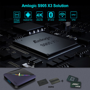 Image 2 - VONTAR A95X F3 RGB Licht TV Box Android 9,0 4GB 64GB 32GB Amlogic S905X3 8K 60fps wifi Media Player A95XF3 X3 2GB16GB TVBOX