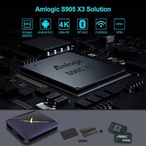 Image 2 - VONTAR A95X F3 światło RGB TV, pudełko z systemem Android 9.0 4GB 64GB 32GB procesor Amlogic S905X3 8K 60fps Wifi odtwarzacz multimedialny A95XF3 X3 2GB16GB TVBOX