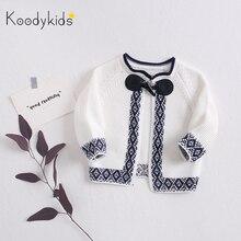 Koodykids 2020 Spring Autumn Baby Girl Knitted Sweater Knitting Coat Spring Swea
